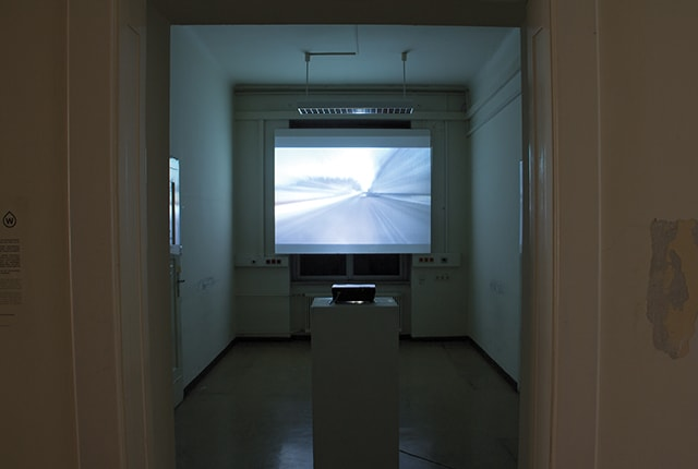 Jennifer Mattes, Travel Diary, 2008, video, exhibition view