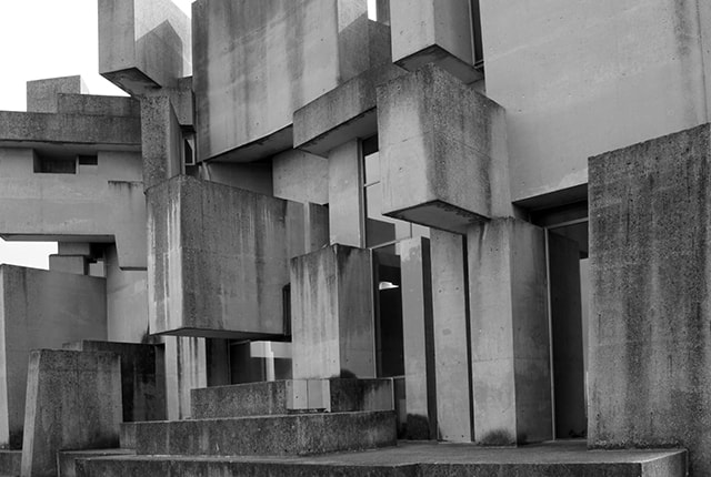 "Fritz Wotruba, Fritz Mayr, The Church of the Most Holy Trinity, ""Wotruba Church,"" completed in 1976, Vienna, detail,  photo: Evy Jokhova"