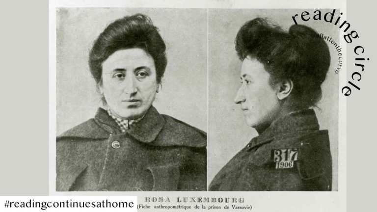 Rosa Luxemburg's mugshot from Warsaw prison in 1906 (Unknown photographer)